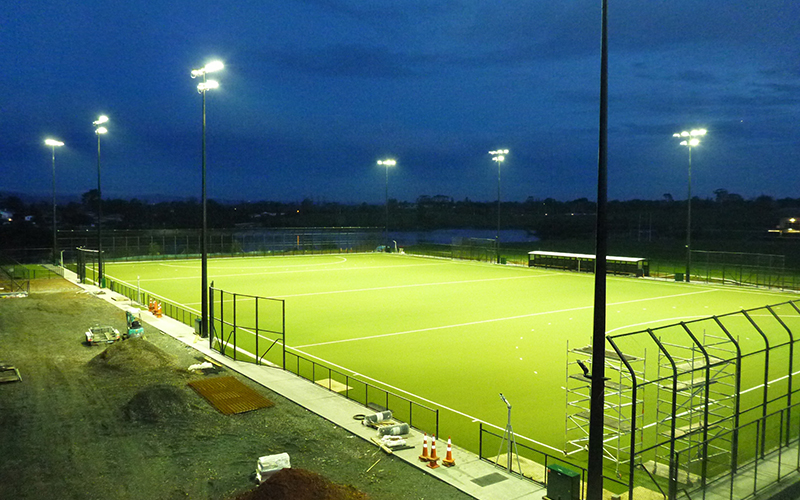 Strathallan College - Hockey turf lighting